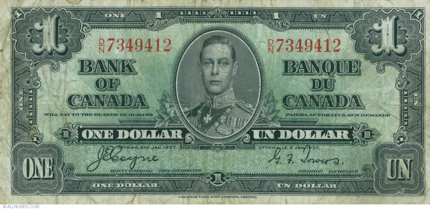 Kanadischer DollarCanadian Dollar 1937