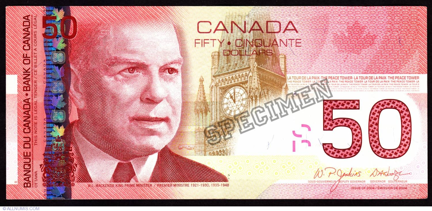Kanadischer Dollar50 Canadian Dollars 2004