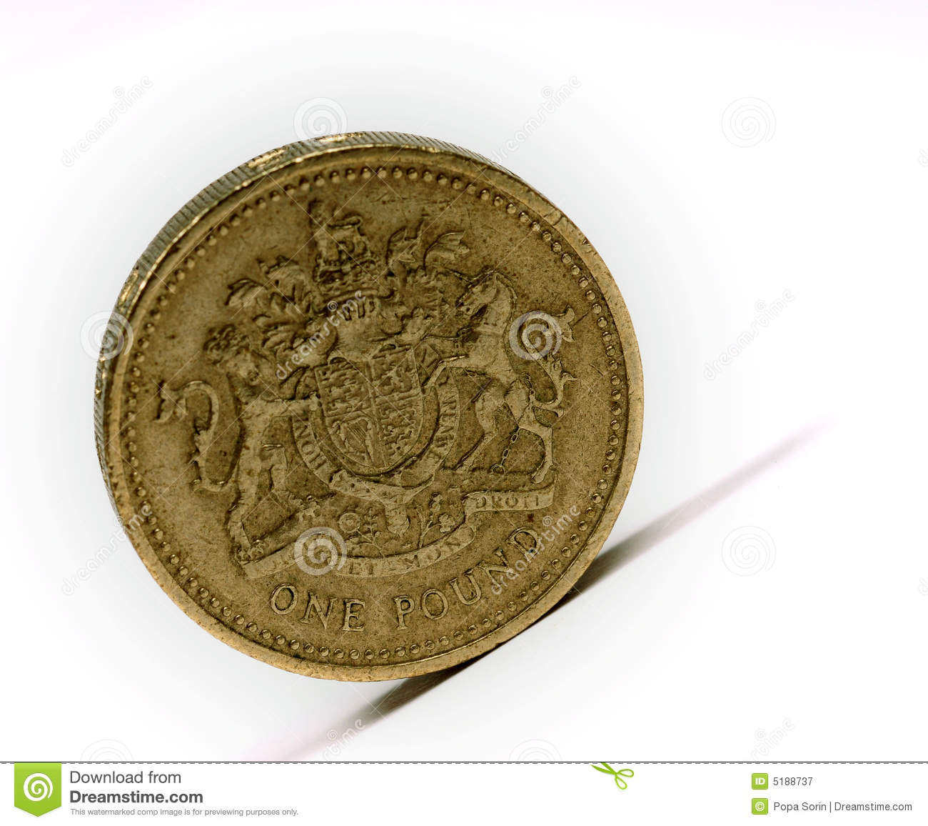 Britisches Pfund... Free Stock Photography: One pound sterling