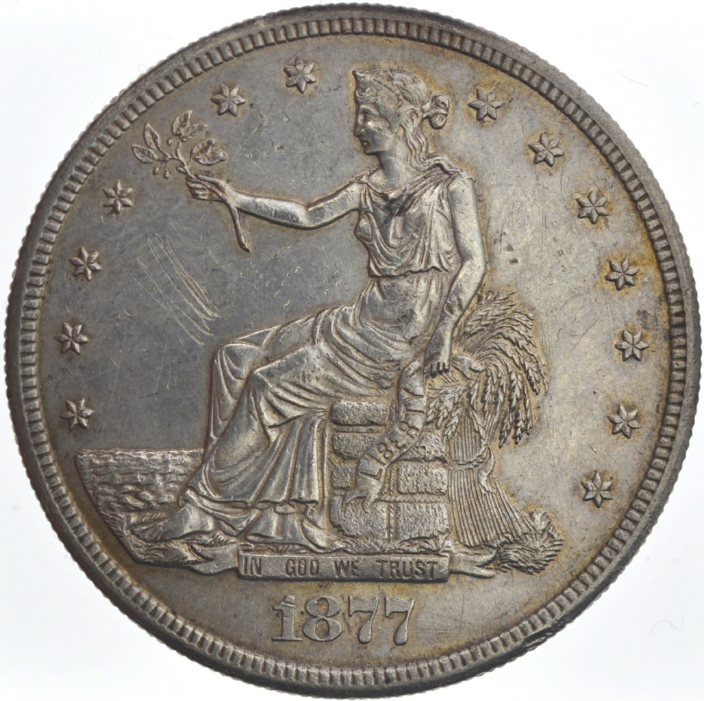 US-DollarUnited States Trade Dollar dated 1877 S