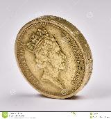 Britisches PfundThe photo of the one pound sterling.